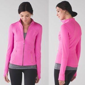 Lululemon💕Forme Jacket Pow Pink Cuffins Luon Yoga